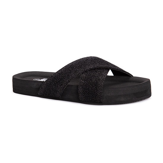 Muk Luks Womens Teagan Slide Sandals