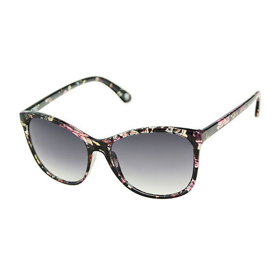 Nicole By Nicole Miller Womens Full Frame Cat Eye UV Protection Sunglasses
