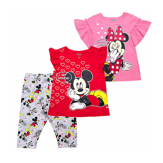 Disney Girls 3-pc. Minnie Mouse Legging Set-Toddler