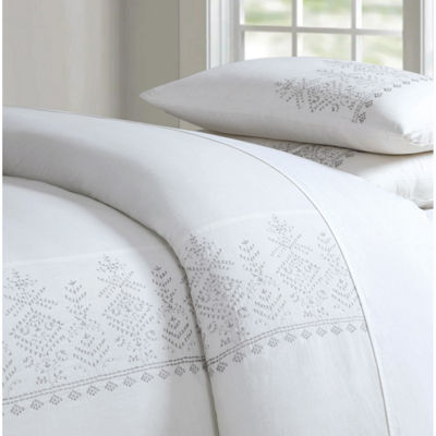 Cottage Classics Cotton Embroidered Border Comforter Set