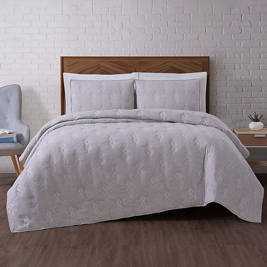 Brooklyn Loom Tender Faux Wool 5-pc. Solid Quilt Set