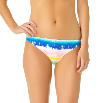 California Sunshine Tie Dye Hipster Swimsuit Bottom-Juniors