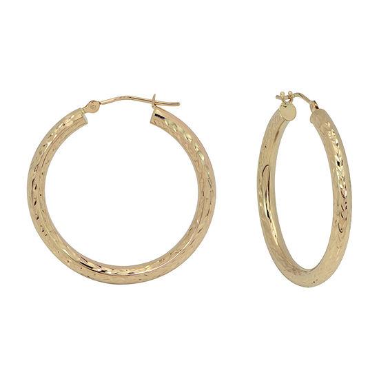 14K Gold 30mm Hoop Earrings