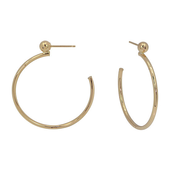 14K Gold 26mm Hoop Earrings
