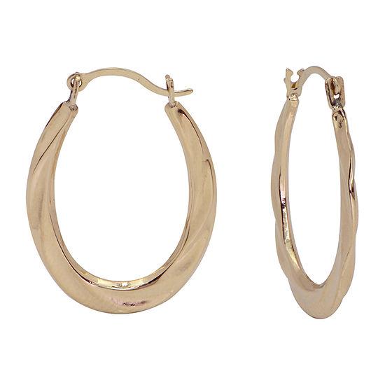 14K Gold 26mm Hoop Earrings