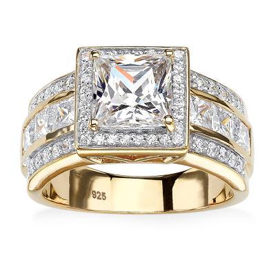 Diamonart Womens 3 CT. T.W. White Cubic Zirconia Engagement Ring