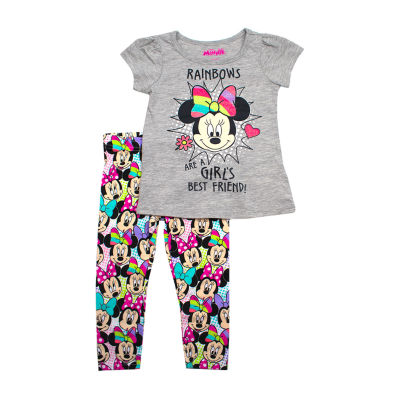 Disney 2-pc. Minnie Mouse Legging Set-Toddler Girls