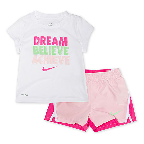 Nike Girls 2-pc. Short Set Toddler