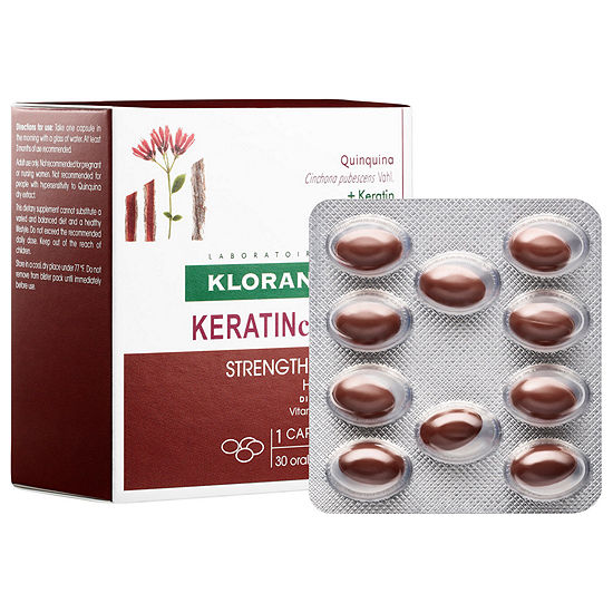 Klorane Keratincaps Hair Nails Dietary Supplement