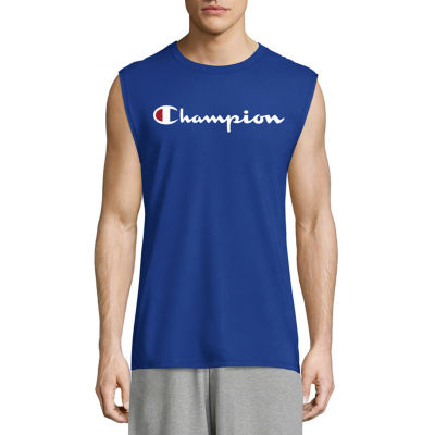Champion Mens Crew Neck Sleeveless Muscle T-Shirt