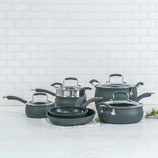 Epicurious® 11-pc. Hard-Anodized Nonstick Cookware Set