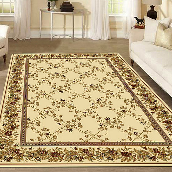 Noble Scroll Traditional Oriental Area Rug
