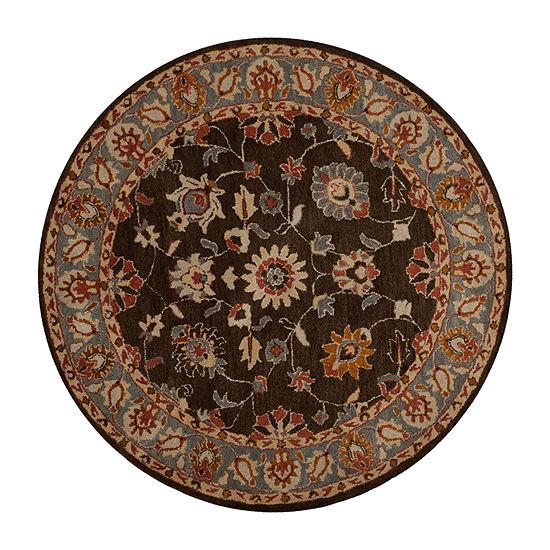 Safavieh Heritage Collection Donette Oriental Round Area Rug