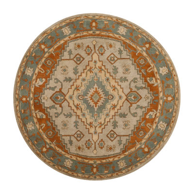 Safavieh Heritage Collection Faris Oriental Round Area Rug