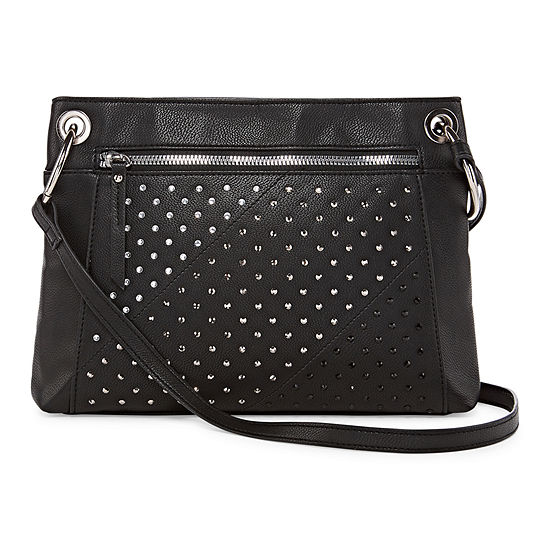 Bold Elements Ombre Rhinestone Crossbody Bag