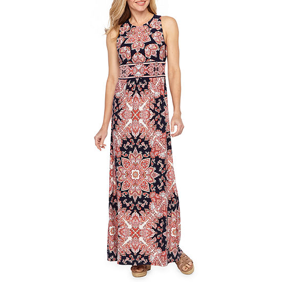 e1113779fec2b London Style Sleeveless Medallion Maxi Dress - JCPenney