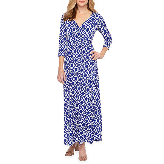 2c616ab1f98 Ronni Nicole 3 4 Sleeve Geometric Maxi Dress - JCPenney