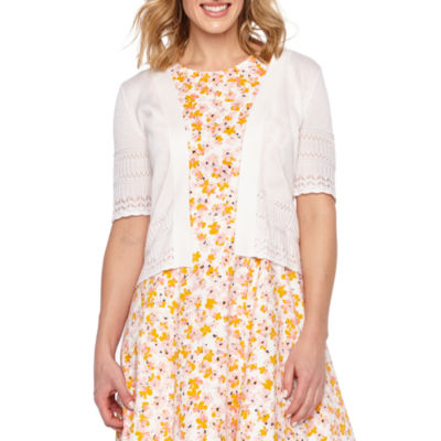 Liz Claiborne Womens Short Sleeve Shrug