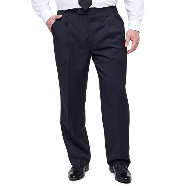 Stafford® Pleated Tuxedo Pants–Big & Tall