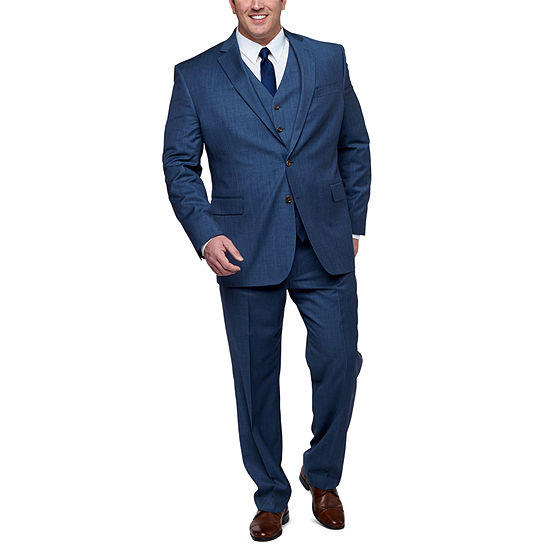 Stafford Super100 Slate Blue Big and Tall Fit Suit Separates