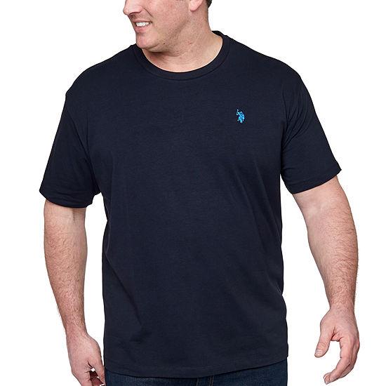 U.S. Polo Assn. Mens Crew Neck Short Sleeve T-Shirt-Big and Tall