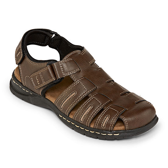 St John S Bay Mens Cash Strap Sandals Color Brown