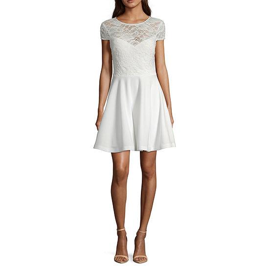 B. Darlin Short Sleeve Party Dress-Juniors