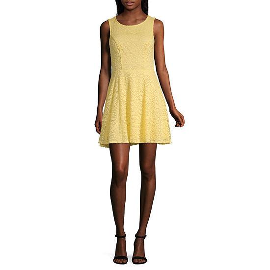 City Triangle Everyday Value Dress Sleeveless Skater Dress-Juniors