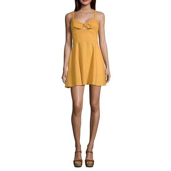 Speechless Sleeveless Fit Flare Dress Juniors