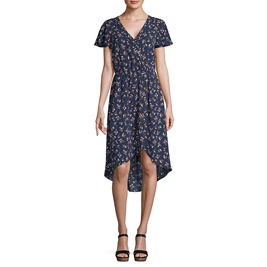 by&by Short Sleeve Skater Dress