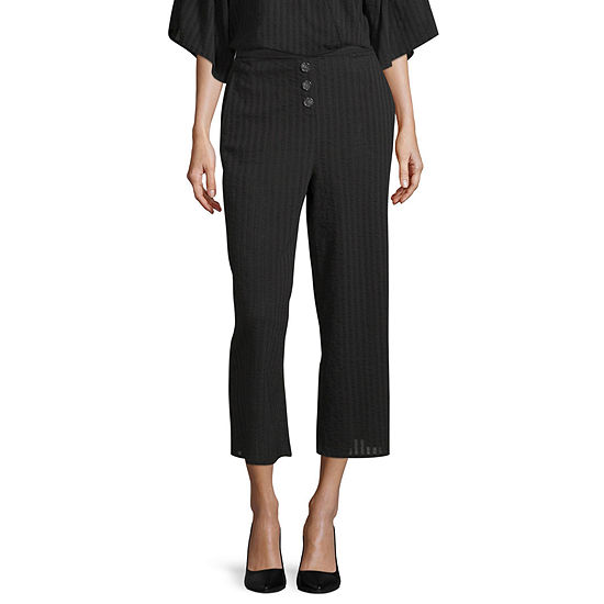 a.n.a Womens Mid Rise Wide Leg Pull-On Pants