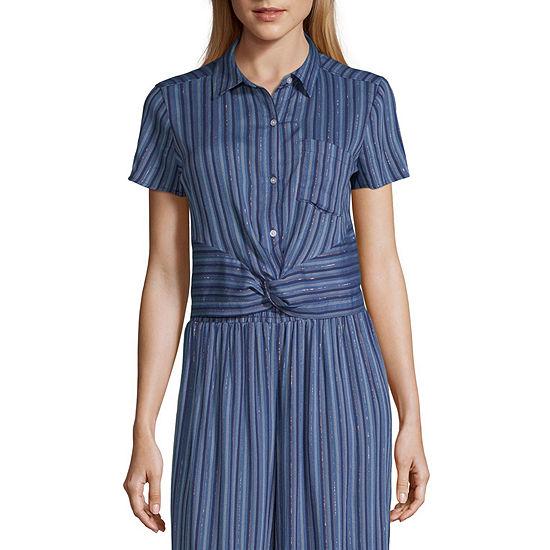 Ana Womens Short Sleeve Crop Top