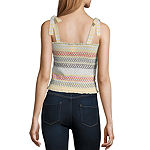 Self Esteem-Juniors Womens Straight Neck Sleeveless Blouse
