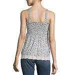 Rewind Womens Square Neck Sleeveless Tank Top Juniors