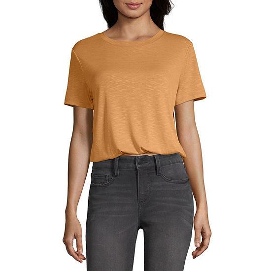 Wallflower-Womens Crew Neck Short Sleeve T-Shirt Juniors