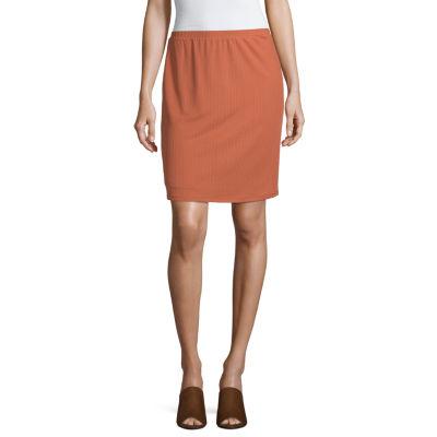 Society And Stitch Womens Midi A-Line Skirt-Juniors