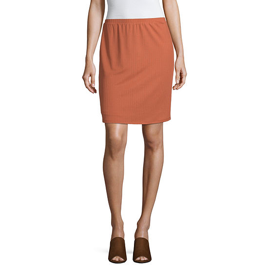 Society And Stitch Womens Midi A-Line Skirt-Juniors