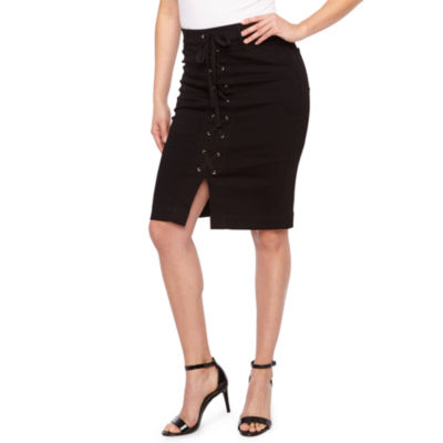 Bold Elements Womens Mid Rise Pencil Skirt