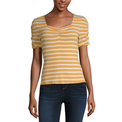 a.n.a-Womens Sweetheart Neck Short Sleeve T-Shirt