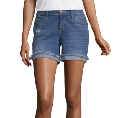 "a.n.a 5"" Raw Cuff Midi Denim Short"