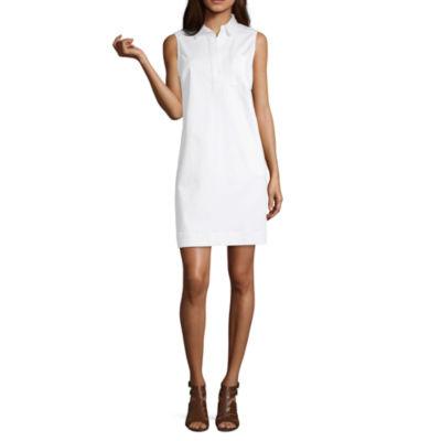 Liz Claiborne Simply Liz Spring 2019 Sleeveless Shirt Dress