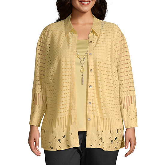 Alfred Dunner Native New Yorker Layered Lace Blouse - Plus