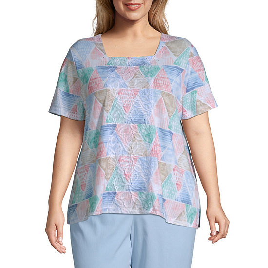 Alfred Dunner Le Jardin Geometric T Shirt Plus