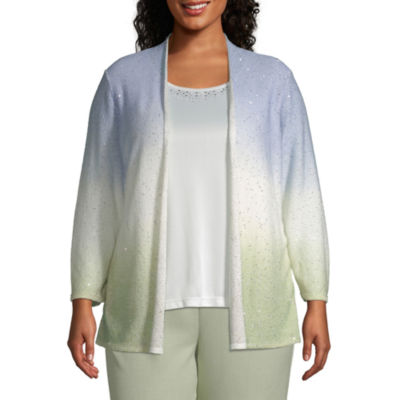 Alfred Dunner South Hampton Sequine Ombre Twofer - Plus