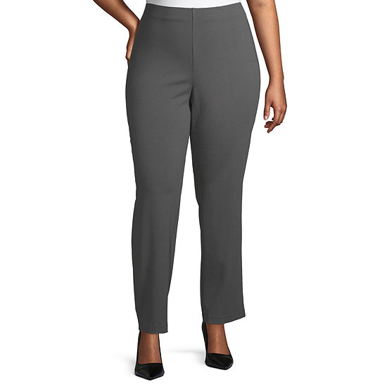 Liz Claiborne Ponte Pull On Pant - Plus