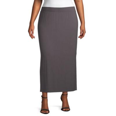 Liz Claiborne Ankle Skirt - Plus