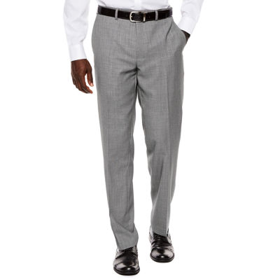 Collection by Michael Strahan Black White Birdseye Flat-Front Suit Pants - Classic Fit
