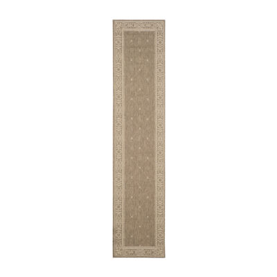 Safavieh Courtyard Collection Oakley Oriental Indoor/Outdoor Runner Rug