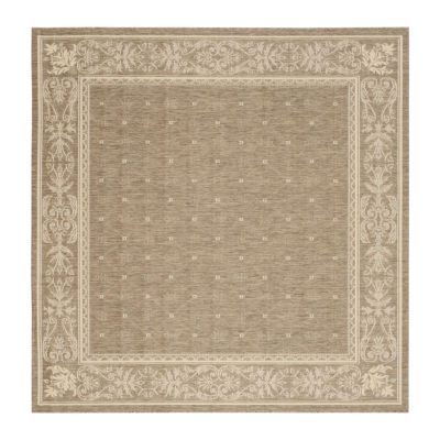 Safavieh Courtyard Collection Oakley Oriental Indoor/Outdoor Square Area Rug