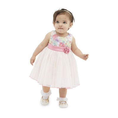 Bonnie Jean Lace Bodice Baby Girls Sleeveless Floral A-Line Dress